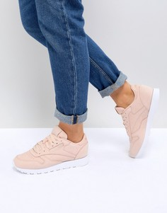 Розовые кроссовки из нубуковой кожи Reebok Classic - Розовый
