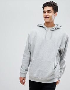 Серое меланжевое oversize‑худи ASOS - Серый
