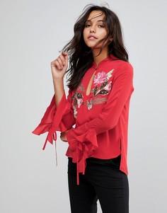 Блузка с вышивкой Millie Mackintosh - Красный