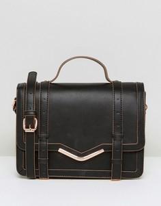 Структурированная сумка‑сэтчел ASOS - Черный