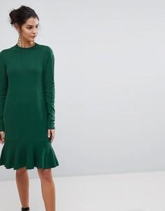 Трикотажное платье с баской Y.A.S - Зеленый