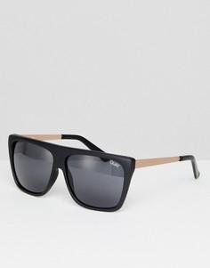 c2234f1c94d7 Черные квадратные солнцезащитные очки Quay Australia OTL II - Черный