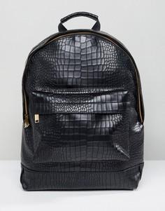 Черный рюкзак с отделкой под кожу крокодила Mi-Pac - Черный