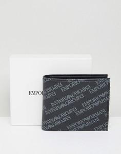 Серый бумажник с логотипом Emporio Armani - Серый