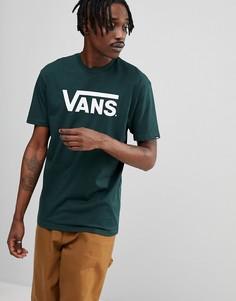 Зеленая классическая футболка с логотипом Vans V00GGGQGT - Черный