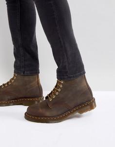 Коричневые ботинки с 8 парами люверсов Dr Martens 1460 - Коричневый