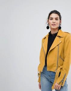 Замшевая байкерская куртка Y.A.S - Желтый