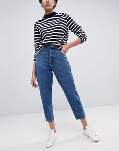 Темно-синие джинсы с широкими штанинами ASOS - Синий