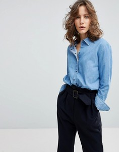Джинсовая рубашка Selected - Синий