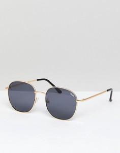 Круглые солнцезащитные очки Quay Australia Jezabell - Золотой
