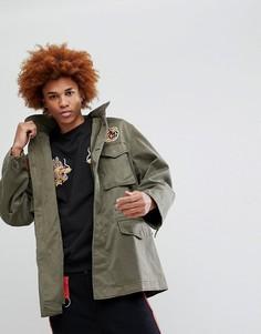 Куртка с нашивками Maharishi M65 - Зеленый