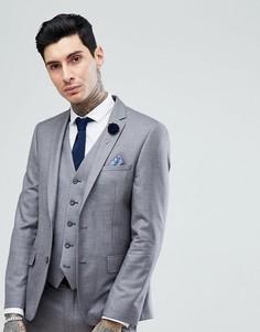 Светло-серый узкий пиджак Harry Brown - Серый