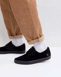 Черные кроссовки с вулканизированной подошвой Etnies Jameson - Черный