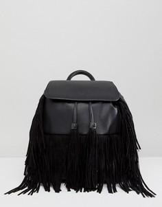 Рюкзак с бахромой Miss Selfridge - Синий