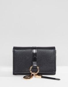Маленький кошелек с кольцом для ключей River Island - Черный