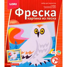Набор Lori Белая сова КпР-007 -Фреска-картина из песка Лори