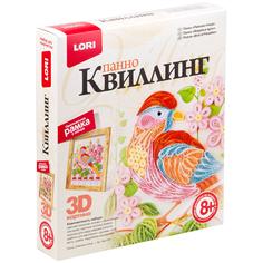Набор Lori 3D Квиллинг-панно Райская птица Квл-024 / 254783 Лори