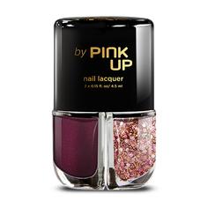 Набор лаков для ногтей `PINK UP` GLITTER GLAM тон 06 2x4 мл