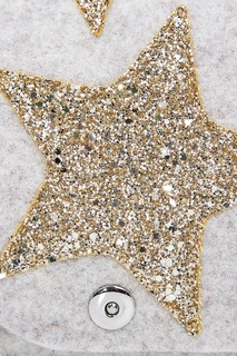 Бежевая сумка со звездами Roro