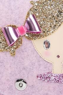 Светло-розовая сумка с аппликацией Roro