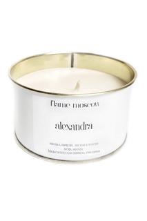 Ароматическая свеча в металле White Metal Alexandra, 325 g Flame Moscow