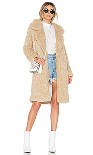 Пальто с ворсом long violet - Tularosa