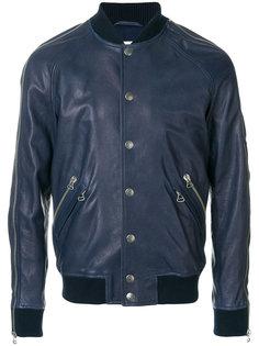 кожаная куртка-бомбер на молнии Pierre Balmain