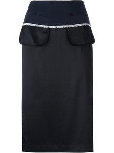юбка-карандаш с эффектом вывернутой наизнанку DKNY