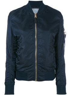 куртка-бомбер с карманом на рукаве Alpha Industries