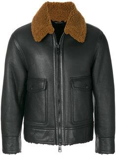 куртка из овчины на молнии Ami Alexandre Mattiussi