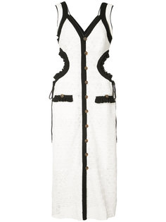 платье с вырезными деталями и английской вышивкой Self-Portrait