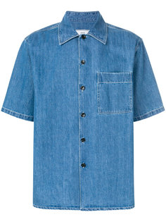 джинсовая рубашка с короткими рукавами Ami Alexandre Mattiussi