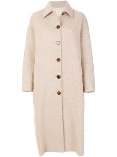 удлиненное пальто на пуговицах Khaite