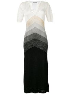 """платье с люрексом дизайна """"колор-блок"""" Marco De Vincenzo"""
