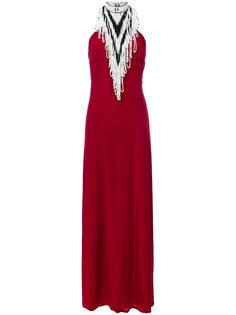вечернее платье с вырезом-петлей халтер Talitha