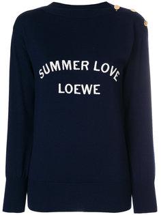 вязаный свитер Summer love Loewe