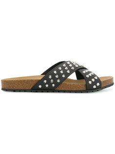 сандалии с ремешками крест-накрест с заклепками Dsquared2