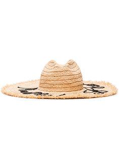 соломенная шляпа с вышивкой Miu Miu