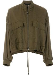 куртка-бомбер на молнии Tom Ford