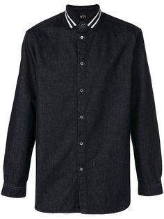 джинсовая рубашка с длинными рукавами Nº21