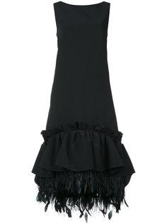 платье шифт с баской и сборками Huishan Zhang