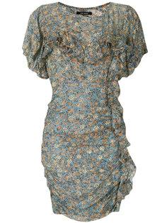 приталенное платье с цветочным принтом  Isabel Marant