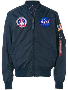 куртка-бомбер с заплатками Nasa Alpha Industries