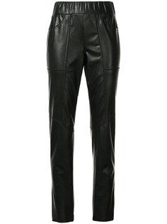 узкие брюки в байкерском стиле Marc Cain