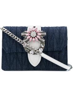 сумка на плечо с украшением из кристаллов Miu Miu