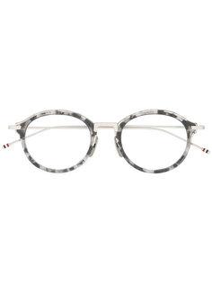 очки в круглой оправе с мраморным эффектом Thom Browne Eyewear
