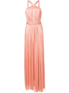 вечернее платье с вырезом-петлей халтер Maria Lucia Hohan