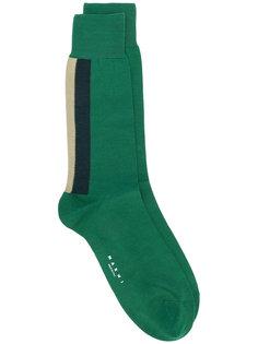 носки с полосками Marni