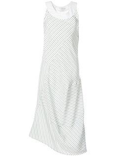 платье миди в полоску  Victoria Beckham
