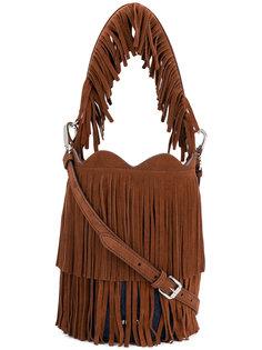сумка-мешок с бахромой Miu Miu